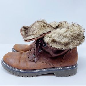 Mossimo Brown Faux Fur Boots